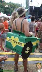This guy loves tractors. Or perhaps he *is* a love tractor. We're not sure.