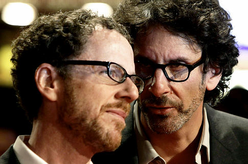 Directors Joel (right) and Ethan Coen arrive for the London Film Festival screening of their film A Serious Man, at the Vue West End in Leicester Square, central London Tuesday Oct. 27, 2009. (AP Photo /Yui Mok, PA) ** UNITED KINGDOM OUT NO SALES NO ARCHIVE ** Original Filename: BRITAIN_PREMIERE_LON853.jpg