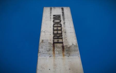Freedom pillar Apartheid museum